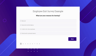 Employee Exit Survey Preview