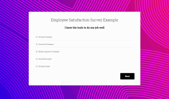 Employee Satisifaction Survey Preview